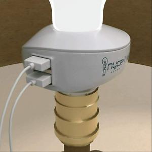 Nyce LampCharger Light Bulb Lamp Socket USB Port Charger Adapter Phone