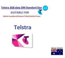 Telstra 3GB DATA Prepaid SIM CARD For internet Standard Size Oz Seller bulk