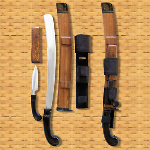 VALIANT CO. FAMOUS SURVIVAL GOLOK COMBO ~ chopping & clearing machete + knife