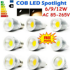 10pz GU10 MR16 E14 E27 6/9/12W LED Spotlight Light Bulbs COB Lamp Day/Warm White