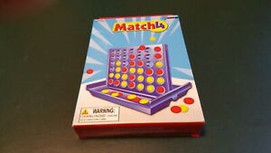 Match 4 kids family game small travel fun portable compact classic plastic game