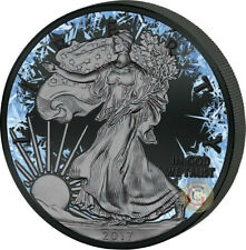DEEP FROZEN American Eagle Silver Coin ruthenium plated USA 2018