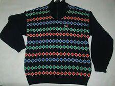 Ski Jumper Sweater Scandinavian H2O Wool Zip Windstopper Lining Snowboard Blue L