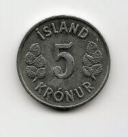 World Coins - Iceland 5 Kronur 1978 Coin KM# 18