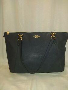 Navy Blue Coach Pre-owned shoulder Handbag Purse shopper tote large bag