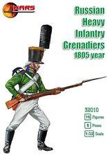 Mars Figures 1/32 Napoleonic Russian Infantry Grenadiers 1805 Soldiers 72010 NEW