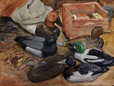 Nicely Decorative 'Ducks & More' Painting, 24x30in, On Fredric  Canvas