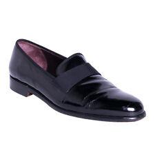 Salvatore Ferragamo Shoes Size 10.5 Black Patent Leather Loafers