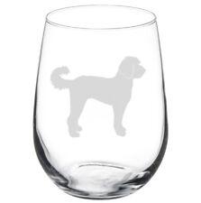 Labradoodle Dog Stemmed / Stemless Wine Glass