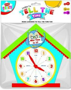 Learn to Tell the Time Shaped Clock Educational Learning Tool Toy For Children