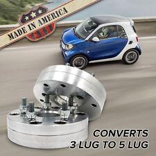 "3x112 - 5x4.5 (3 Lug Smart to 5 Lug Wheel) | Adapters / 1.5"" Spacers | x2 USA"