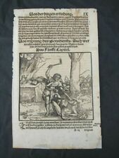 Incunable, full page from bible 1537