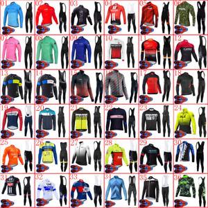 2021 Mens Cycling long sleeve Jersey bib pants Set bike Outfits Bicycle Clothing