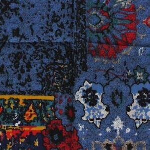 Blue Red Paisley Ascot Cravat Pocket Square Combo Silk Blend