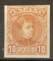 ESPAÑA 1901 ALFONSO XIII CADETE 10 PESETAS SIN DENTAR EDIFIL 255**