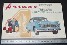 BUVARD 1950 SIMCA ARIANE 4 GRANDE VOITURE FRANCAISE AUTOMOBILE AUTO