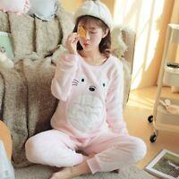 New Womens Warm Fleece Winter PJ Pyjama Set Night Wear PJ's Pyjamas Sets Ladies