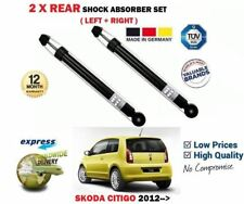 FOR SKODA CITIGO 1.0 2011->NEW 2 X REAR LEFT + RIGHT SHOCK ABSORBER SHOCKER SET