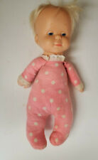 "Vintage 1964 Mattel 14"" Drowsy Doll Pink Polka Dot Pajamas Talks #3091"