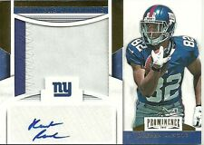 2012 PROMINENCE #8 RUEBEN RANDLE RC PATCH AUTO 4/15 GIANTS