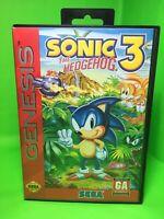 Sonic The Hedgehog 3 (Sega Genesis) Case/Art/Game Tested