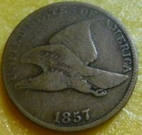 1857 Flying Eagle  Cent  Coin  #57  nice coin