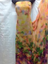 Designer Multicolour Chiffon Print Fabric Dress Craft wedding light