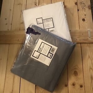 OCM Twin XL Gray Fitted, Flat Sheet & Pillowcase, Mattress Protector SHIPS FREE