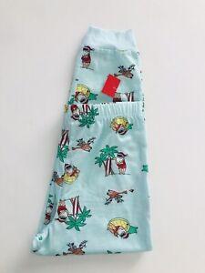 Macy's Family PJs Kids Pajama Bottoms Swimming Santa Island Christmas Size 6/7