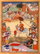 PAINTING PORTRIAT SCENE ADHAM KHAN INDIA 30X40 CMS FINE ART PRINT POSTER BB8715