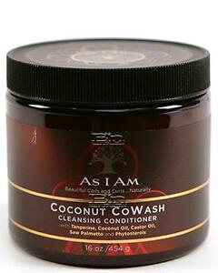 As I Am Coconut CoWash Cleansing Conditioner 16oz / 454g Brand New