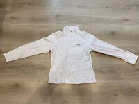 The North Face TKA100 Fleece Lightweight White 1/4 Zip Jacket Jumper Size Medium