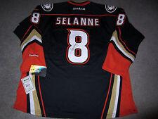 TEEMU SELANNE Anaheim Ducks SIGNED Autographed JERSEY w/ BAS COA New XL HOF