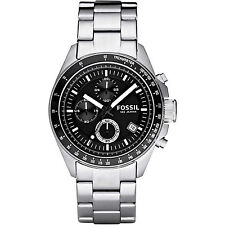 FOSSIL CH2600 Decker Chronograph Stainless Steel Black Dial Men's Watch CH2600IE