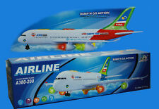 Kids Aeroplane A380 Model Airbus Electric Toy Gift With Lights & Sounds UK Stock