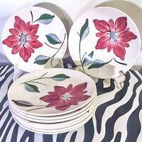 9 pc Vintage Blue Ridge Potteries Skyline Petal Point Bread & Butter Plates USA