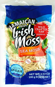 Jamaican Pride Irish Moss Sea Moss - Wild Crafted Raw Superfood (Vegan)