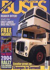 BUSES 588 MAR 2004 East Lancs,Cornwall,Cavalier,South Coast Exp,Delaine,London