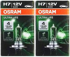 2 Stk OSRAM H7 ULTRA LIFE 55 Watt 12 Volt PKW 64210 Auto Lampe PX26d Birne 55W