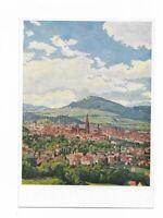 """Künstlerkarte von W. Dittrich, """"Freiburg im Breisgau"""""""