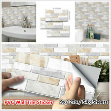 Self Adhesive Mosaic Brick Tile 3D Sticker Kitchen Bathroom Wall Stickers Deaor