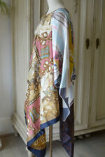 Hand Made Vintage BOHEMIAN Silk Scarf TUNIC / DRESS 60's Hippy