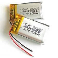 2 pcs 500mAh 3.7V 702035 Li-polymer rechargea Battery For Mp3 headset Bluetooth