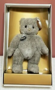 """Gund - Grey 1986 Collector's Bear, LE, 9"""" tall, Jointed, TA, NRFB"""
