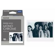 Fujifilm Instax Wide Mono Chrome 10 Photo White Black