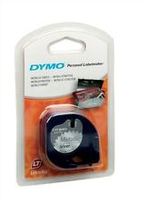 Dymo (12mm) Tape (Metallic Silver) for LetraTAG Series