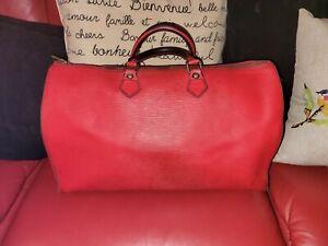 Louis Vuitton Epi leather Speedy 40 RED