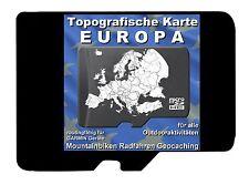 TOPO microSD Topografische Karte EUROPA für GARMIN zum Wandern Radfahren Biken