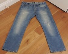 Calvin Klein Jeans Slim Straight Lowrise Sz 34 100% Cotton Button Fly <INV183>