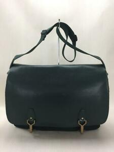 LOUIS VUITTON Business   Leather Green Shoulder Bag From Japan